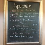 Specials for lunch!