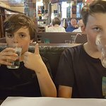 Had another wonderful pizza and great beer with my son Benjamin and his friend Oakley