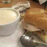 Clam Chowder and Half Turkey Sandwich, Elmer's, Parkrose