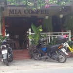 Entrance and parking spaces at Mia Coffee - Cafe Hoi An