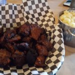 burnt ends with truffle mac and cheese