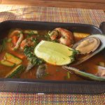 delicious fish soup at Mexican restaurant