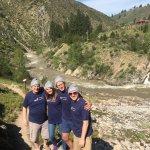 Group photo at hot springs