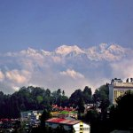 Zoomed view of the mighty Kanchenjunga.