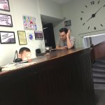 The two receptionists that did not care