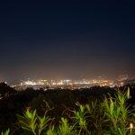 Uitzicht 's avonds laat