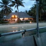night view of resort from end of jetty.