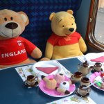 Teddys on a train!