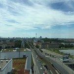 Innenansicht und Blick über die Dächer