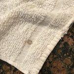 Dirty towel.