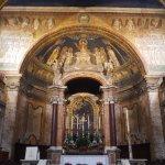 Mosaico sobre o altar