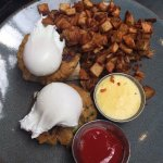 Crabcake Benedict (sauce on the side)