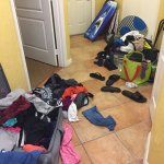 This is the mess my family of five are living in and the tiny room they gave us to sleep in,even