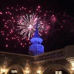 Fireworks above Tomorrowland