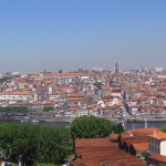 looking back at Porto from Vila Nova de Gaia - note Taylors Port at right