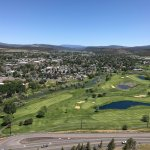 Golf course and downtown