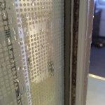 dirty mildew in shower cubicle door