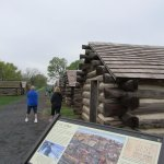 Cabins recreating the living quarters of the men