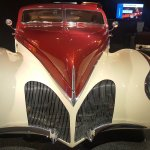 Vintage cars in the automotive museum