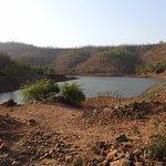 Artificial Man Made pond outside Hidden village Resort
