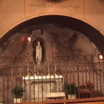 chapel designed to resemble grotto at Lourdes