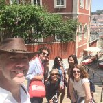 Admiring the beautiful view of Lisbon on the way to our beer stop!