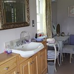 Very tastefully decorated. Just look at the view from the bath! Friendly and welcoming.