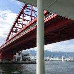 橋の下を通過
