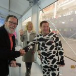I'm thanking Piano Man BarryFromBoston ( yes, in a Cow Onesie ) for referring us to Cows Creamer