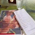 drink and lunch menus