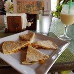 cheese quesadillas and voodoo colada