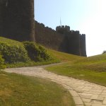 path up to the castle from car park
