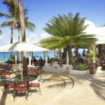 Outdoor dining at Taboras, Barbados.