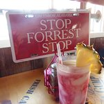 Stop and have a tropical cocktail!  (Lava Flow)