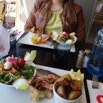 Plancha des produits de la mer