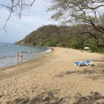 The beach is about one kilometer long