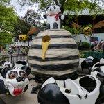 Since when do Panda Bears eat honey? So much for an  educational theme park.