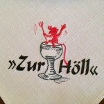 Embroidered logo on restaurant napkin