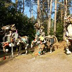 Sculptures from rubbish