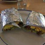Amazing breakfast burrito