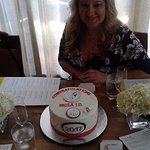 My cake was already on the table when I arrived.