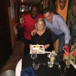 Orlando with my husband and I on my birthday. Excellent dinner and surprise birthday dessert!