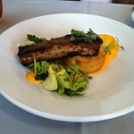 Pork belly with polenta appetizer