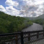 Lehigh river from train