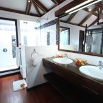 Indoor and Outdoor Shower Honeymoon Bure