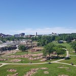 View from the tower at Falls Park, Sioux Falls, South Dakota