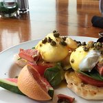West Coast Eggs Benedict nicely presented!