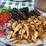 The Cevapi plate - sausage was great and the fries were amazing!