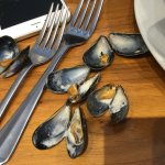 The smallest mussels I have ever been served in a restaurant. They blamed their suppliers! I wou