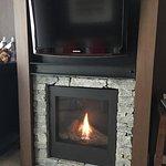 Delightful fire in room